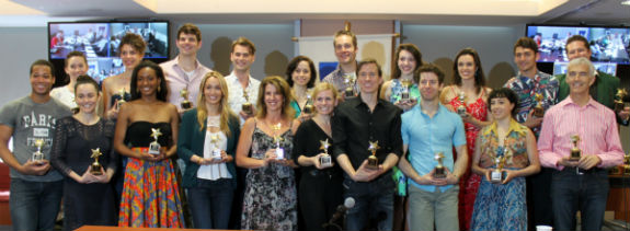 The chorus of An American in Paris with their ACCA Awards