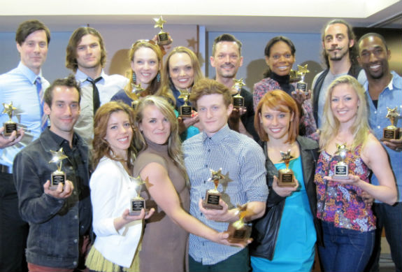 The chorus of Pippin with their ACCA Awards