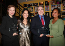 Tara Rubin (Honoree), EEO Committee Co-Chair Christine Toy Johnson, Todd Haimes (Honoree), Senior Business Rep Zalina Hoosein Photo by S. Masucci