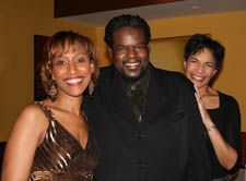 EEO Committee Co-Chair Julia Breanetta Simpson with Lena Horne tribute performers Allyson Tucker and Roosevelt Andre Credit