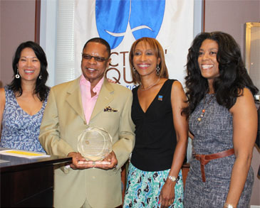 Christine Toy Johnson (AEA Co-chair Eastern EEO Committee), Stephen Byrd (Producer), Julia Breanetta Simpson (AEA Co-chair Eastern EEO Committee), Alia Jones-Harvey (Producer)
