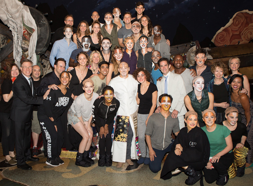 Jeremy Davis with the cast members of Cats.