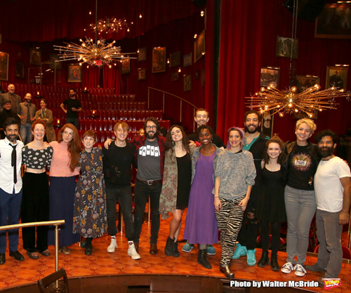 Josh Groban with fellow cast members of Natasha, Pierre and the Great Comet of 1812.