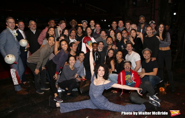 Catherine Ricafort with fellow cast members of Miss Saigon.  Photo by Walter McBride.