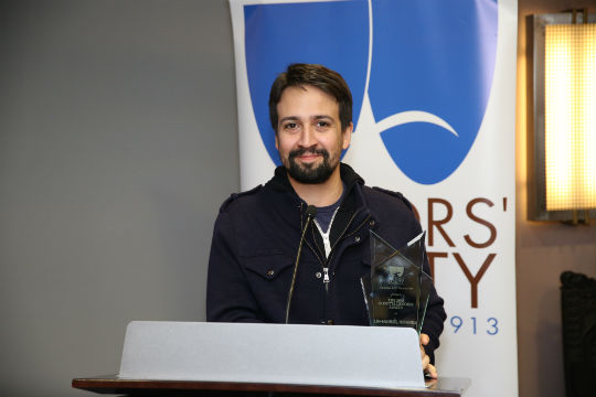 Lin-Manuel Miranda receiving the award