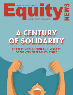 Cover image of Equity News: A Century of Solidarity: Celebrating the 100th Anniversary of the First Equity Strike