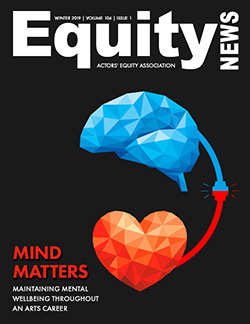 Cover Image of Equity News: Mind Matters: Maintaining Mental Wellbeing Throughout an Arts Career